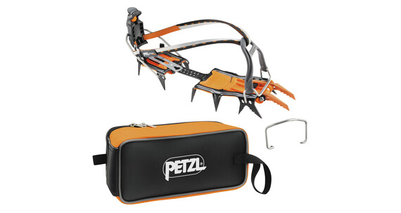 Petzl Lynx - Crampones - Leverlock Universel gris/naranja